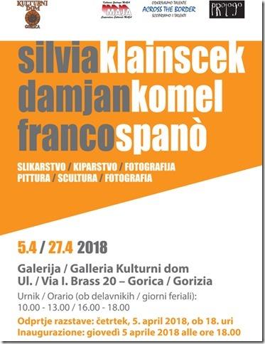 SILVIA KLAINSCEK, DAMJAN KOMEL in FRANCO SPANÒ